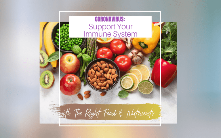 SUPPORT YOUR IMMUNE w right foods and nutrients